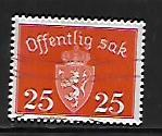 NORWAY, O38A, USED, COAT OF ARMS