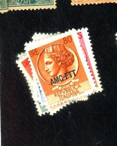 ITALY-TRIESTE #170-172 174-77 MINT FVF OG HR Cat $33