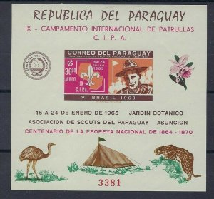1965 Scouts Paraguay IX Campamento Internacional Imperf SS