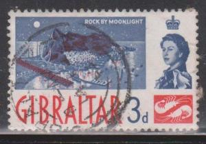 GIBRALTAR Scott # 151 Used - The Rock By Moonlight