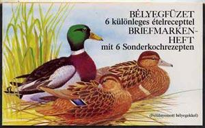 Booklet - Hungary 1989 Wild Ducks 80fo booklet complete a...