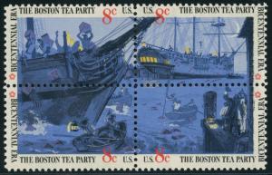 #1480-3c BOSTON TEA PARTY LITHO BLACK OMITTED ERROR VF NH CV $900+ HW3398