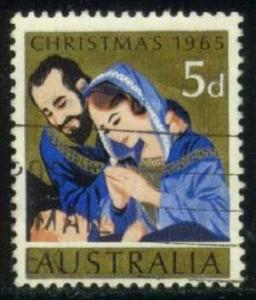 Australia #393 Christmas Nativity, used (0.25)