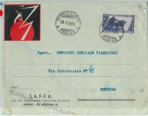 68578 - ITALIA  - STORIA POSTALE:  BUSTA PUBBLICITARIA - Moncaglieri TORINO 1933