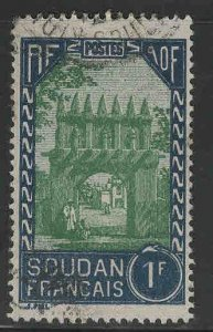 French Sudan Scott 85 Used stamp from 1931-1940 set