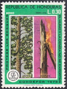 Honduras # C595 used ~ 30¢ Live and Burning Trees
