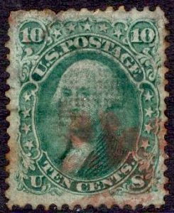 F GRILL US Stamp #96USED w/ + $35 Red Cancel  SSCV $275