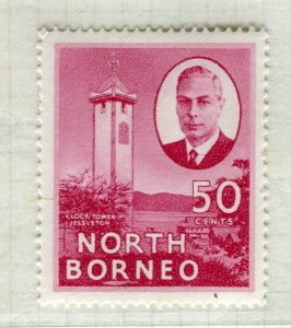 NORTH BORNEO; 1950 early GVI issue fine Mint hinged 50c. value