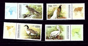 Burkina Faso 1087-90 MNH 1996 Birds
