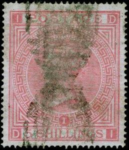 SG127, 5s pale rose plate 1, USED. Cat £675. DI