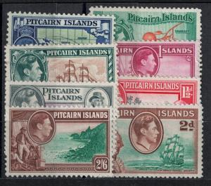 Pitcairn Islands 1940-1951 SC 1-8 Mint SVC 75.90 Stamp Set