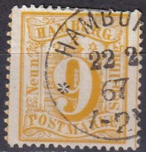Hamburg #21   F-VF Used CV $2000.00  (K2768)