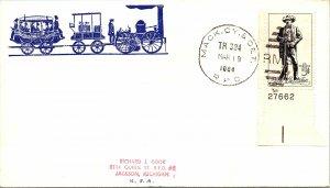 1964 Mack. Cy. & Det. R.P.O. Railway Post Office + Train Cachet #122