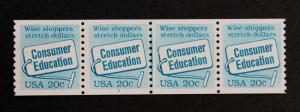 US. Stamp #2005 Plate #2 / Mint-NH Plate Number Coil Strip of 4 (PNC-4) Consumer