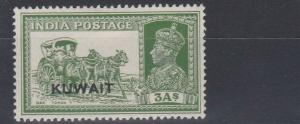 KUWAIT  1939  S G 41  3A  YELLOW GREEN   MH