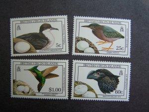 British Virgin Islands 1990 MNH Birds 4 v set