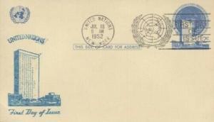 UN #UX1 2c POST CARD - Unknown R/S