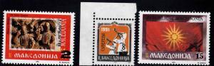 Macedonia Scott 21-23 MNH**  Surcharged stamps