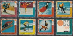 Yemen; Winter Olympic Games Set, 1972, Full Set Of 7 Vals & Label, MNH