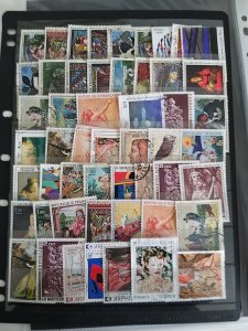Collection France Paintings, used/unused, 52 stamps