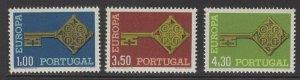 PORTUGAL SG1337/9 1968 EUROPA MNH