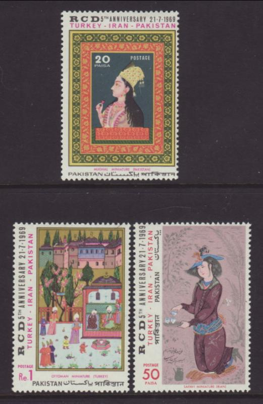 Pakistan 274-276 Art MNH VF