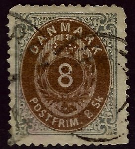 Denmark SC#19 Used F-VF sh perf Cat $75.00...steal the deal!!