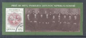 Lithuania Sc 594 1998 Independence stamp sheet used