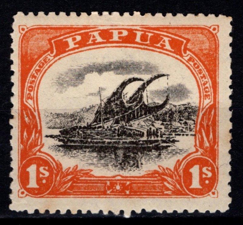 Papua New Guinea 1910 1/- Black and Deep Orange [Unused]