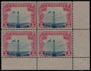 MALACK C11 F/VF OG NH, Block, DRAMATIC BLUE SHIFT, w..MORE.. gg0504
