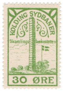 (I.B-CK) Denmark Railway : Kolding Jernbane 30 Øre