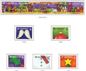 Guernsey Sc 849-54 2004 Christmas stamp set used