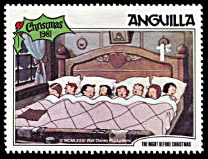 Anguilla 453, MNH, Disney The Night Before Christmas 1981