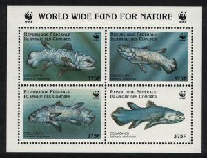 Comoro Is. WWF Coelacanth MS RAR SC#833 a-d MI#1261-1264