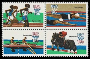 PCBstamps     US #1791/1794a Block 60c(4x15c)Summer Olympics, MNH, (13)