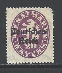 German States - Bavaria Sc # O55 mint hinged (RS)