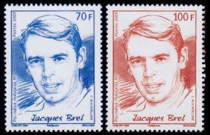 Fr. Polynesia Jacques Brel Belgian singer songwriter actor 2v SG#1115-1116