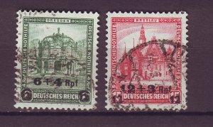 J25162 JLstamps 1932 germany set used #b42-3 ovpt,s