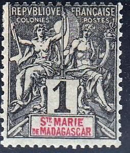 St. Marie de Madagascar #1 Unused. Please See Scans