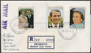 PENRHYN IS 1974 Registered cover to New Zealand............................29093