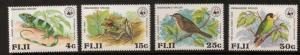 FIJI SG564/7 1979 ENDANGERED WILDLIFE MNH