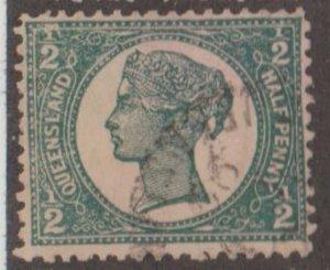 Queensland - Australia Scott #112 Stamp - Used Single