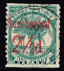 WESTERN SAMOA STAMP  1898 -1899 Numbers RED Surcharged USED STAMP