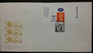 GB 1994 Machin 1st Class Stamp Boots Label FDC Nottingham SHS