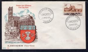 France 763 Typed FDC