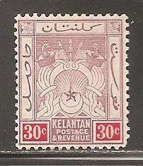 Malaya  Kelantan SC  7   Mint Lightly Hinged
