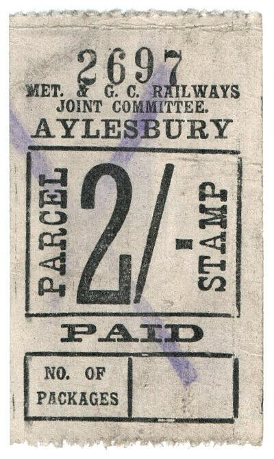 (I.B) Metropolitan & Great Central Joint Railway : Parcel 2/- (Aylesbury)
