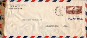 Port-au-Prince Haiti > Marlin Firearms New Haven CT censored airmail cover 1944