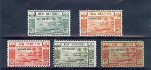 New Hebrides British J6-10, Postage Due Singles,**MNH**