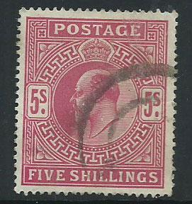 GB Edward VII SG 263  Good used nicely centered